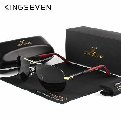 KINGSEVEN Men Vintage Aluminum Polarized Sunglasses Classic Brand Sun glasses Co