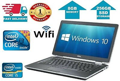CHEAP Laptop Gaming Dell Latitude Core i5 i3 8GB Ram 240GB SSD  Win 10 HDMI WiFi
