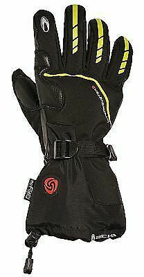 Richa Toronto Heated Motorcycle Gloves Black/Yellow Xl