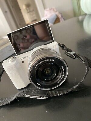 Sony Alpha A5100 24.3MP Digital Camera - White (Kit with 16-50mm Power Zoom...