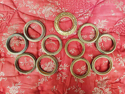 Batch Of Mis-Matched Antique French Ormolu Curtain Rings