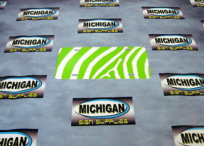 Green ZEBRA License Plate Blanks **Create your own Designs!!**