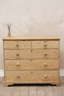 Antique Vintage Rustic Country Pine Chest of Drawers
