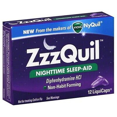 2 Packs ZzzQuil Nighttime Sleep Aid Fast Shipping!