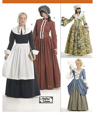 PATTERN for Colonial Pilgrim costume dress Simplicity 3723 Patriot Miss 14-22