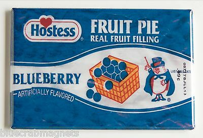 Blueberry Fruit Pie FRIDGE MAGNET (2 x 3 inches) hostess wrapper