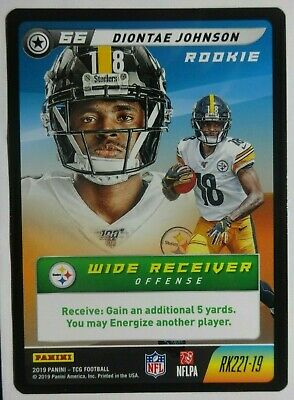 2019 Panini NFL Five Rookie Diontae Johnson #RK221-19 RC SP PITTSBURGH STEELERS