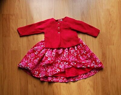 Girls NEXT and George Christmas Party Dress and cardigan 9-12 Months