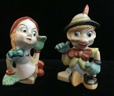 Vintage Dutch Character Salt And Pepper Shakers Made In Japan