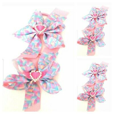 Sold In Pairs. Handmade Baby Girls Hair Bow Bobbles
