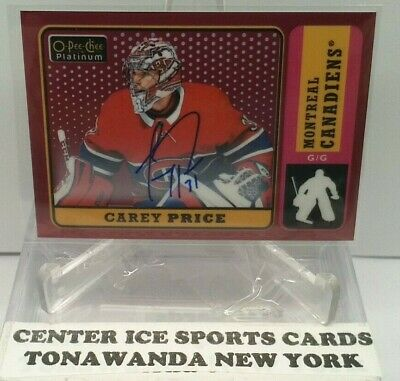 2018-19 O-Pee-Chee Platinum Carey Price Retro Red Rainbow Autographs R-10  Auto