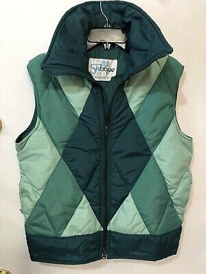 Vintage Skitique DOWN Puffer Vest mens size L British Crown Colony Hong Kong