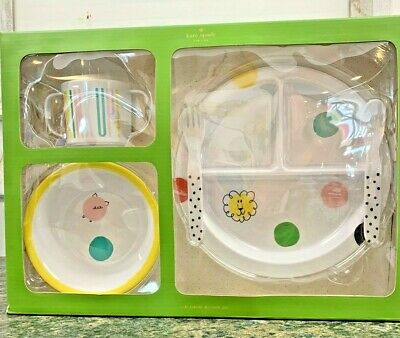 Kate Spade Melamine Baby Dish Set, Hey Baby, New in Box