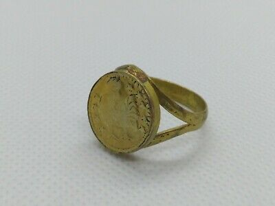 Rare Ancient Antique Roman Ring Bronze Stunning