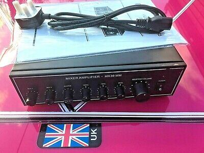 MX30 MM Mixer Amplifier 100volt line or 8 ohms (used)