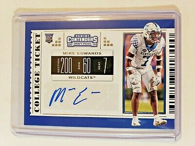 2019 Contenders Draft Picks Mike Edwards Auto Tampa Bay Buccaneers Kentucky NFL