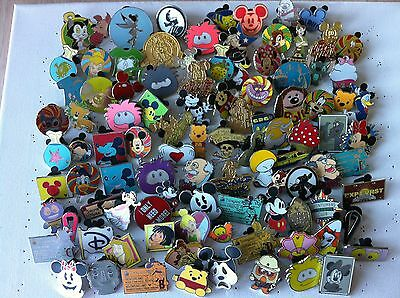 Disney Trading Pins-Lot of 60-No Duplicates-LE-HM-Rack-Cast-Free Shipping