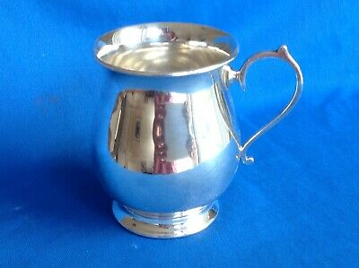 Vintage Or Antique 1/4 Pt. silver Plated Tankard With Pedestal Foot