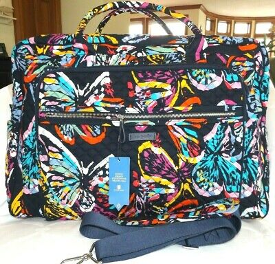 VERA BRADLEY Iconic Weekender Travel Bag - BUTTERFLY FLUTTER - Carry On - NWT