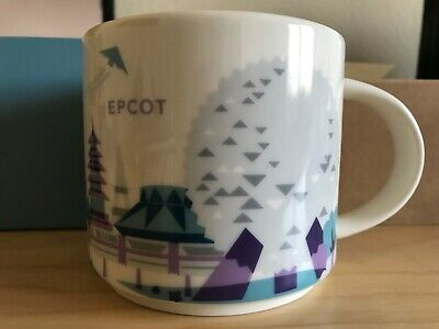 Disney Epcot V1 Starbucks Coffee You Are Here Collector Series, 14 oz.