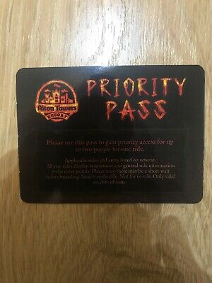 Alton Towers priority pass Wickerman - Fast Track