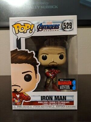 Funko Pop #529 IRON MAN GAUNTLET Avengers Endgame NYCC SHARED W/ PROTECTOR