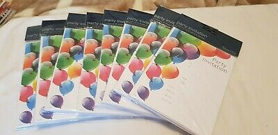 Joblot Packs Of Birthday Invitations With Envelopes Party Adult Kids  Stationery