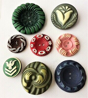 Vintage Buffed Celluloid Buttons