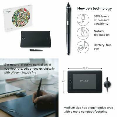 Wacom Intuos Pro Digital Graphic Drawing Tablet For Mac Or Pc, Medium, (Pth660)