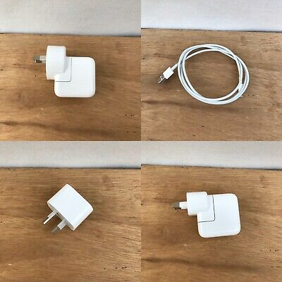 Genuine Apple iPhone Lightning Cable & Or Usb Power Adapter Charger Base 6 7 8 X
