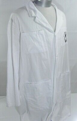 Authentic Military Walter Reed Bethesda 6 Pocket Doctor Lab Coat S