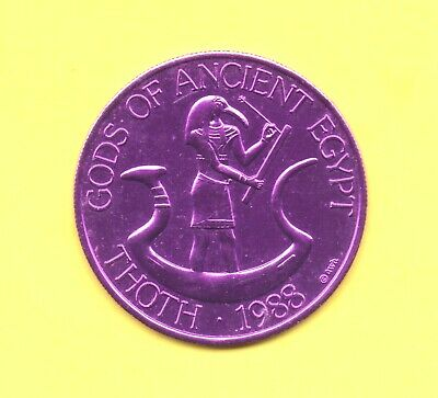 gods of Ancient Egypt Token ~ 1988 Krewe of Pharaohs Doubloon - Thoth