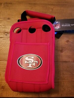 NFL San Francisco 49ers Six Pack Cooler Tote Black