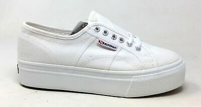 Superga Women's 2790 Linea Up And Down Platform Sneaker White Size 41 EU 9.5 US