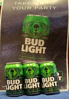 (3 CANS)Bud Light Area 51 Green Alien UFO Can - Limited  Edition Collectors Can