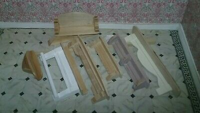 WOOD Wall SHELVES  Lot 7 Dollhouse Miniature Quilt Rack natural shelving/shelf b