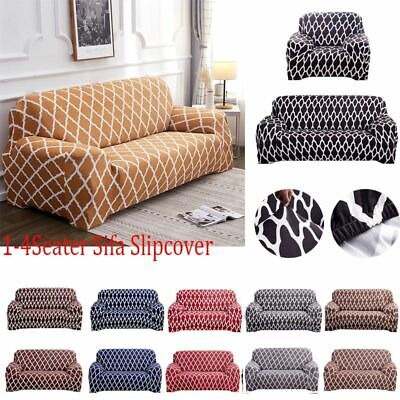 Stretch Sofa Slipcover 1/2/3/4 Seater Solid Color Lattice Couch Cover Protector