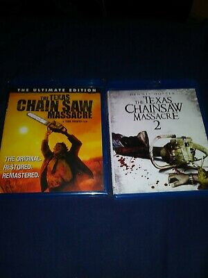The Texas Chain Saw Massacre Ultimate edition + 2 Blu-ray Horror Lot collection
