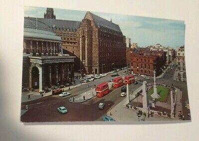 Postcard - st . Peters square manchester scene   - lot 54