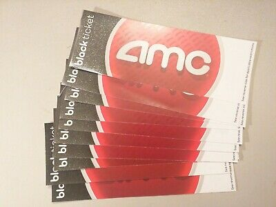 Ten (10) AMC Black Movie tickets - NO Expiration Date - FAST SHIPPING
