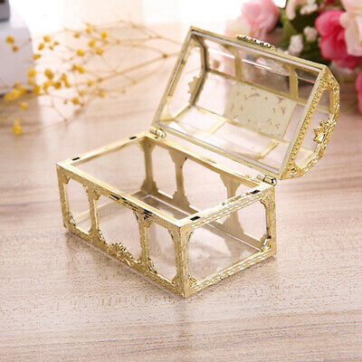 Plastic Transparent Souvenir Candy Box Jewelry Storage Treasure Chest Pirate