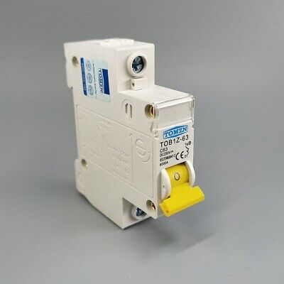 "With 4/"" Din Rail YuCo 1p 32a B Curve 277vac 115vdc Miniature Circuit Breaker"