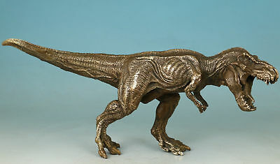 Chinese Copper Bronze Collection Hand Carved Dinosaur Statue Decoration