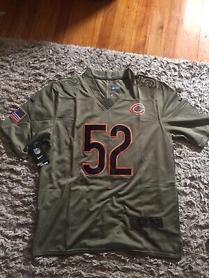 NEW KHALIL MACK CHICAGO BEARS OLIVE SALUTE TO SERVICE Sewn MENS  JERSEY Large L