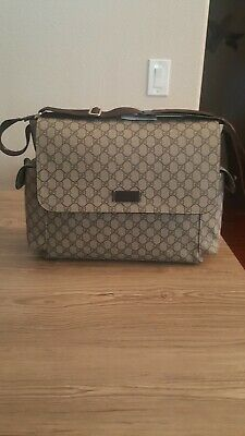 100% Authentic GUCCI GG PLUS Diaper Bag - Brown Canvas.new - FREE SHIPPING!