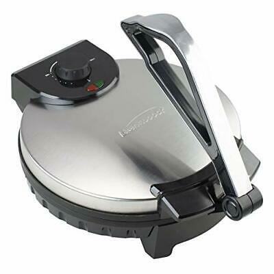 Brentwood Appliances TS-129 12-Inch Nonstick Electric Tortilla Maker, 12in, Meta