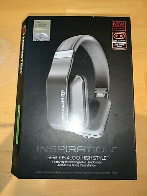 Monster Inspiration Silver - Active Noise Cancelling Over Ear Headphones - USED