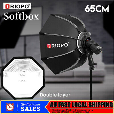 TRIOPO Photography Studio Softbox Flash Light Strobe Diffuser 65CM Double-layer