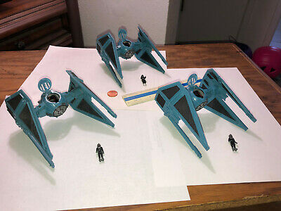 Star Wars Micro Machine Action Fleet Imperial Tie interceptor lot - pilot - 6pc