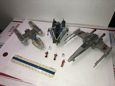 Star Wars Micro Machines Action Fleet Rebel Lot - X , A, Y wing  -8pc